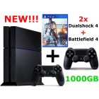 Sony PlayStation 4 прошивка 1.76 (500-1000Gb) + доп. джойстик + Battlefield 4