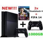 Sony PlayStation 4 прошивка 1.76 (500-1000Gb) + доп. джойстик + FIFA 14