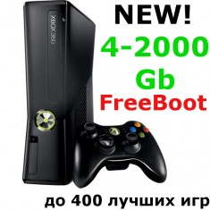 Прошитый Xbox 360 Slim 4-2000Gb Freeboot (Black)